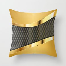 Carbon And Gold Throw Pillow