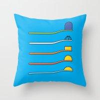 The Simpsodynes Throw Pillow