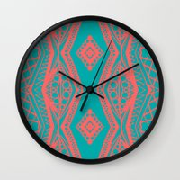 Modern Diamond Pattern -… Wall Clock