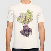 Purple Beets Mens Fitted Tee Natural SMALL