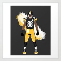 Steel Curtain - Emmanuel Sanders Art Print