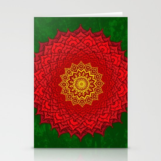 okshirahm rose mandala Stationery Card