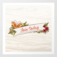 Join Today! Art Print