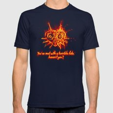 Majora's Mask Fire Mens Fitted Tee Navy SMALL