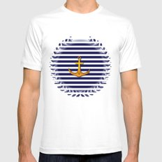 Marine Mens Fitted Tee White SMALL
