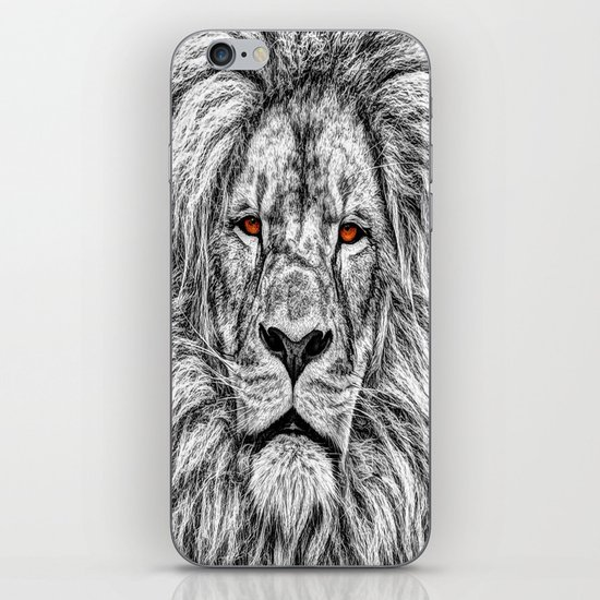 Black Lion iPhone & iPod Skin
