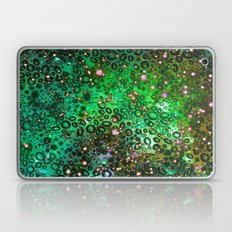 RAINBOW DOTTY OCEAN 3 Green Lime Ombre Space Galaxy Colorful Polka Dot Bubbles Abstract Painting Art Laptop & iPad Skin