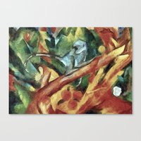 Monkey After Franz Ma… Canvas Print