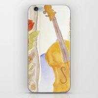 Violin and Roses iPhone & iPod Skin