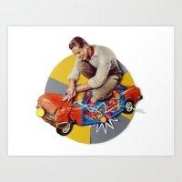 Mr Fixit | Collage Art Print