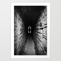 The Silhouette at the End of the Tunnel Art Print