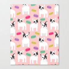 French Bulldog Macaron P… Canvas Print