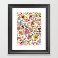Pretty Paisley Framed Art Print