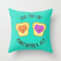Sweet Lovers Throw Pillow