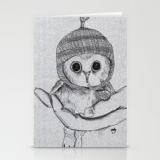 Bobble Hat Owl Stationery Card