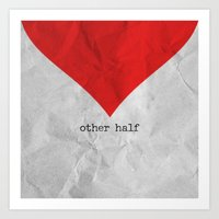 find you half (part 2 of 2) Art Print