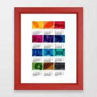 2013 Pigment To Pantone … Framed Art Print