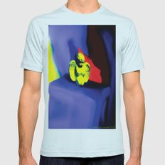Lamentation in Blue, Yellow, and Orange Mens Fitted Tee Light Blue SMALL