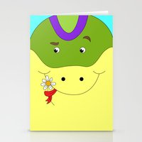 Cute snake in love children's illustration Stationery Cards