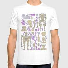 ROBOTIC / ORGANIC  Mens Fitted Tee White SMALL