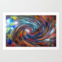 Twirling Marbles Art Print