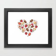 In love with icecream Framed Art Print