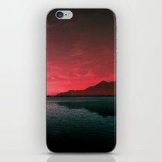 RED SKY OVER LAKE iPhone & iPod Skin