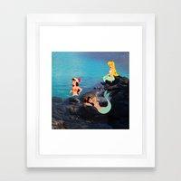 Peter Pan's Mermaid Lagoon Framed Art Print