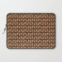 Desert Triangles - Geometric Orange and Blue Pattern Laptop Sleeve