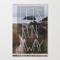 Let's Run Away: Cannon B… Canvas Print