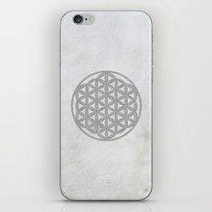 Silver Flower Of Life Sa… iPhone & iPod Skin