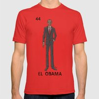 EL OBAMA Mens Fitted Tee Red SMALL