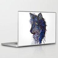 Midnight Wolf Laptop & iPad Skin