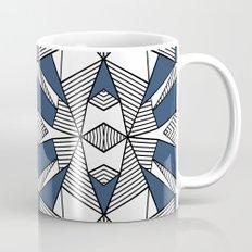 Triangle Tribal #2 Navy Mug