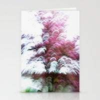 Abstract Pink Flowers 3 Stationery Cards