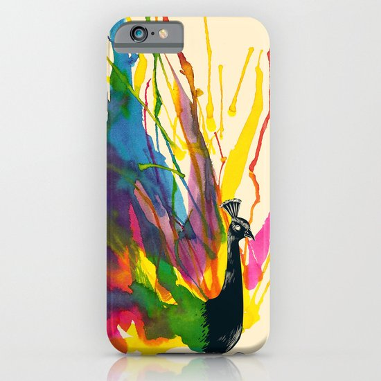 Colorful Peacock iPhone & iPod Case