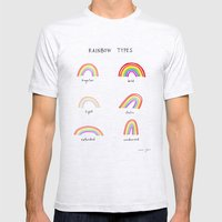 rainbow types Mens Fitted Tee Ash Grey SMALL