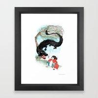 Little Red-San Framed Art Print