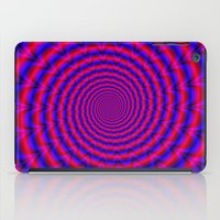 Red And Blue Spiral iPad Case