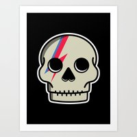 Skully Sane Art Print