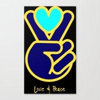 Love & Peace Canvas Print