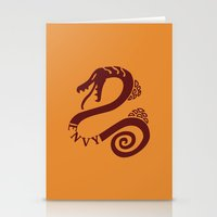 The Serpent's Sin of Envy Stationery Cards