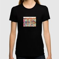 Evening In Poznań Womens Fitted Tee Black SMALL