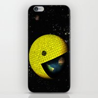 Pacman Eating the World iPhone & iPod Skin