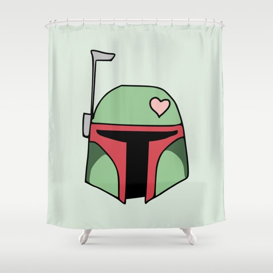 Boba Fett Valentine Shower Curtain