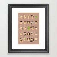 25 FACES OF JIM Framed Art Print