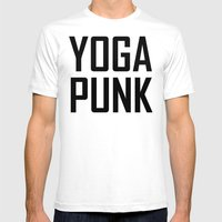 yoga punk Mens Fitted Tee White SMALL