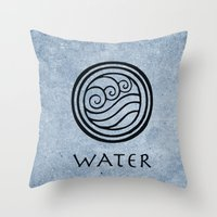 Avatar Last Airbender - Water Throw Pillow