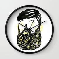 Space Beard Guy Wall Clock