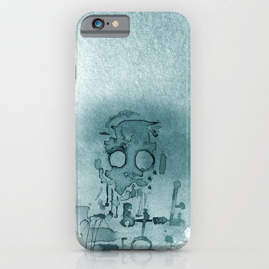 Robot in Blue iPhone & iPod Case